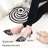 รองเท้าคัชชูข้างใสสีดำ B13-513-ดำ