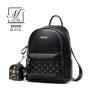 กระเป๋าสะพายเป้กระเป๋าถือ เป้แฟชั่นนำเข้าดีไซน์เรียบหรู B9290-BLK (สีดำ)