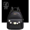 กระเป๋าสะพายเป้กระเป๋าถือ เป้แฟชั่นนำเข้าดีไซน์สุดน่ารัก B3128-BLK (สีดำ)