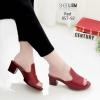 รองเท้าเตารีดสีแดง หน้าทรงปราด้าส้นแมกซี่ 957-92-แดง