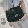กระเป๋าสะพาย แฟชั่นนำเข้าดีไซน์หรู AX-12165-BLK (สีดำ)