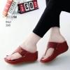 รองเท้าลำลองส้นเตารีดแบบคีบสีแดง LB-268-แดง