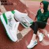 รองเท้าผ้าใบเสริมส้นสีเขียว LB-ST010-GRN
