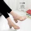 รองเท้าส้นสูงสีครีม Maxi 939-69-ครีม