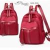 แบบมาใหม่ ทรงสุดฮิต กระเป๋าเป้ผู้หญิงผ้าไนล่อนอย่างดี BAG-065-แดง (สีแดง)