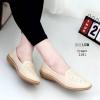 รองเท้าโลเฟอร์พื้นนิ้มสีครีม 2181-ครีม