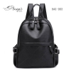 แบบมาใหม่ ทรงสุดฮิต กระเป๋าเป้ผู้หญิงหนัง pu BAG-063-ดำ (สีดำ)