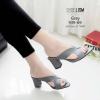 รองเท้าส้นสูงสีเทา Maxi 939-69-เทา