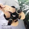 รองเท้าแตะลำลอง เข็มขัดไขว้หน้า SS-08-ดำ (สีดำ)