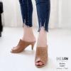 รองเท้าส้นสูงสีน้ำตาล ปราด้า LB-10207-น้ำตาล