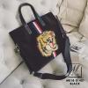 กระเป๋าสะพายกระเป๋าถือ แฟชั่นงานนำเข้าใบใหญ่สไตล์แบรนด์ดัง MB18-01401-BLK [สีดำ]