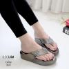 รองเท้าพื้นสุขภาพสีเทา ชนชอป LB-319-เทา