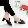 รองเท้าเตารีดสีดำ หน้าทรงปราด้าส้นแมกซี่ 957-92-ดำ