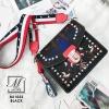 กระเป๋าแฟชั่นนำเข้าลายสุดเก๋ส์สไตล์แบรนด์ดัง BX1022-BLK (สีดำ)