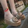 รองเท้าส้นเตารีดสีครีม แบบสวม ST019-CRM