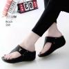 รองเท้าลำลองส้นเตารีดแบบคีบสีดำ LB-268-ดำ