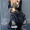 กระเป๋าสะพายกระเป๋าถือ แฟชั่นงานนำเข้าใบใหญ่แต่งหมุดสวยเก๋ส์ MB18-01209-BLK [สีดำ]