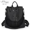 แบบมาใหม่ ทรงสุดฮิต กระเป๋าเป้ผู้หญิงสะพายได้หลายแบบ BAG-041-ดำ (สีดำ)