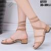 รองเท้าแตะสีครีม แบบสปริง ST777-CRM