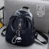 กระเป๋าสะพายเป้กระเป๋าถือ เป้แฟชั่นนำเข้าแพทเทินเรียบดูคลาสสิค MB-17067-BLK (สีดำ)