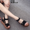 รองเท้าส้นเตารีดสีดำ งานนำเข้า100% ST1706-BLK