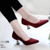 รองเท้าส้นสูงปราด้าสีแดง LB-10172-แดง
