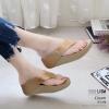 รองเท้าเพื่อสุขภาพสีครีม สไตล์ฟิทฟลอบ ชนชอป รุ่นคริสตัล LB-T119-ครีม