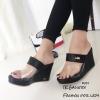 รองเท้าเตารีดหน้าใสจระเข้ RU24-ดำ (สีดำ)