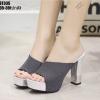 รองเท้าส้นสูงสีดำ งานนำเข้า100% ST335-BLK