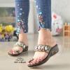 รองเท้าแตะคีบโป้งโบฮีเมียนสีดำ สวยล้ำ 316-1-ดำ