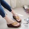 รองเท้าเพื่อสุขภาพสีน้ำตาล สไตล์ฟิทฟลอบ ชนชอป รุ่นคริสตัล LB-T119-น้ำตาล