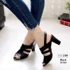 รองเท้าส้นสูงรัดส้นสีดำ LB-10164-ดำ