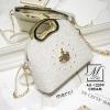กระเป๋าแฟชั่นนำเข้าดีไซน์เก๋ส์ AX-12299-CRM (สีครีม)