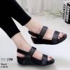 รองเท้าสุขภาพสีดำ รัดข้อ LB-F1070-ดำ