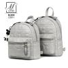 กระเป๋าสะพายเป้กระเป๋าถือ เป้แฟชั่นนำเข้าเย็บหนังเป็นลายสุดเก๋ส์ BL204-GRY (สีเทา)