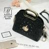 กระเป๋าแฟชั่นนำเข้าดีไซน์เก๋ส์ AX-12299-BLK (สีดำ)
