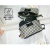 กระเป๋าสะพายกระเป๋าถือ แฟชั่นนำเข้าลายชิโน AX-12312-BLK (สีดำ)