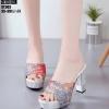 รองเท้าส้นสูงสีเทา LB-ST303-GRA