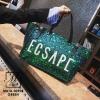 กระเป๋าสะพายกระเป๋าถือกระเป๋าปักเลื่อม แฟชั่นงานนำเข้าปักเลื่อมวิ๊บวับ MB18-00905-GRN [สีเขียว]