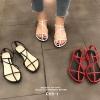 รองเท้าแตะผู้หญิงรัดส้นสีขาว Celine sandals LB-C55-1-WHI
