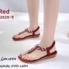 รองเท้าแตะรัดส้นสีแดง พื้นนิ่ม B2626-8-แดง