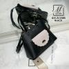 กระเป๋าสะพายกระเป๋าถือ นำเข้างานสวยเก๋ส์ แบรนด์ axixi AXI-A12385-BLK (สีดำ)