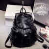 กระเป๋าสะพายเป้กระเป๋าถือ เป้แฟชั่นงานนำเข้าแต่งซิปสุดเท่ห์ MB18-01211-BLK [สีดำ]
