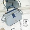 กระเป๋าสะพายกระเป๋าถือ แฟชั่นนำเข้าสไตล์คุณหนู AX-12342-BLU (สีน้ำเงิน)