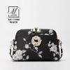 กระเป๋าสะพายกระเป๋าถือ แฟชั่นนำเข้าแบบเก๋ส์ AX-11985-BLK [สีดำ]