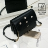 กระเป๋าสะพายกระเป๋าถือ แฟชั่นนำเข้าดีไซน์สุดชิคทรง box AX-12348-BLK (สีดำ)