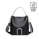 กระเป๋าสะพายกระเป๋าถือ แบรนด์ BEIBAOBAO แท้ ดีไซน์สุด cool BV3486-BLK (สีดำ)