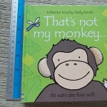 That's not My Monkey... (Usborne Touchy-Feely Books) Hardback/ Board Book 10 Pages ราคา 120