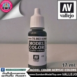 VALLEJO MODEL COLOR GUNMETAL GREY 70.863