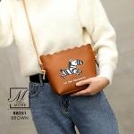 กระเป๋าสะพายกระเป๋าถือ แฟชั่นนำเข้าแบรนด์ BEIBAOBAO ดีไซน์สุดน่ารัก B8251-BRO [สีน้ำตาล]